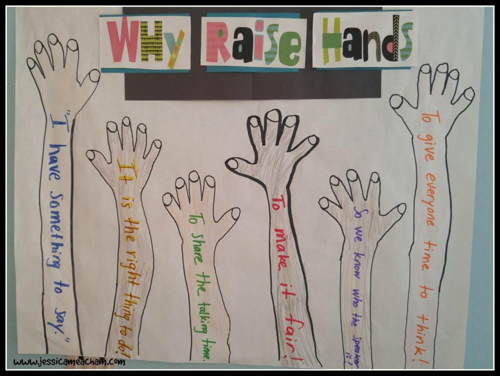 why raise hands