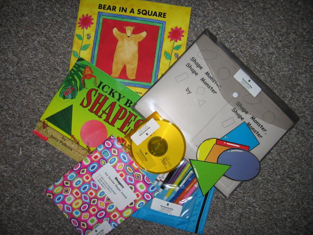 Shapes Homework Bag