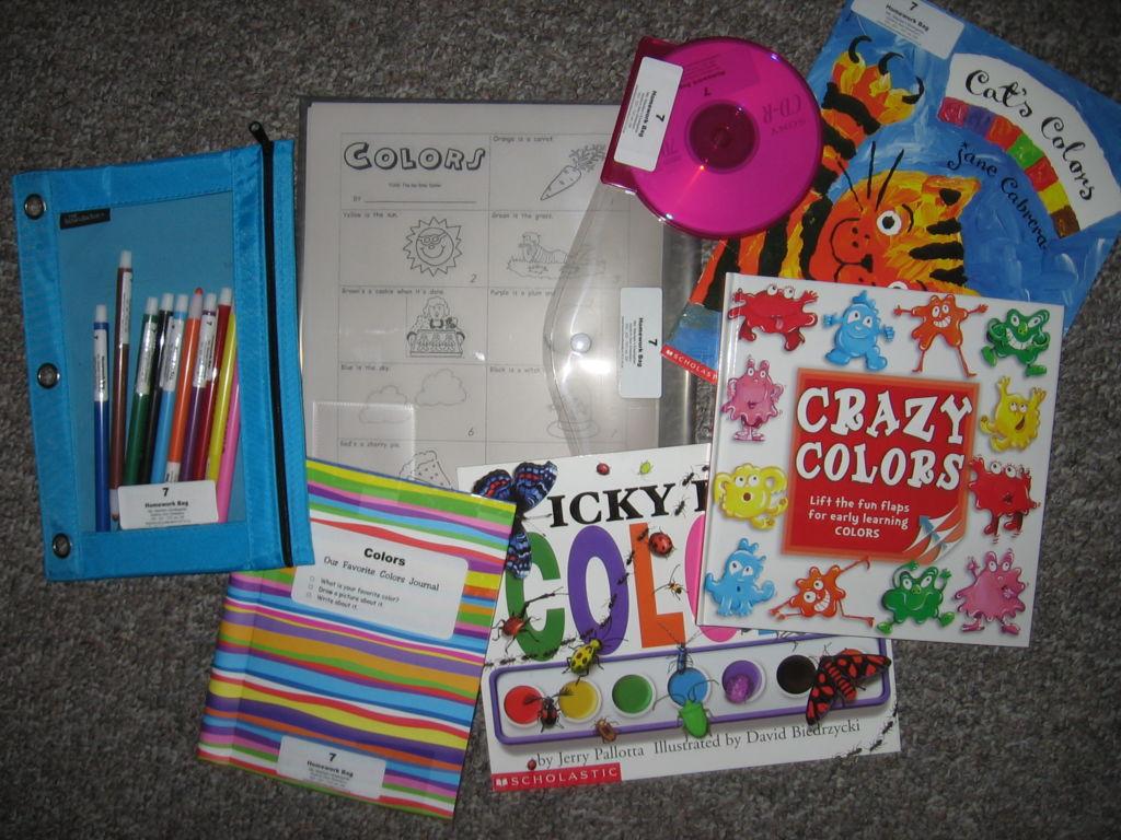 Colors Homework Bag
